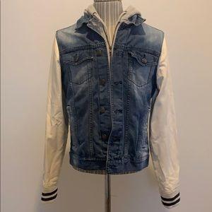 Locker Stock Hooded Jean Jacket size S